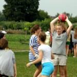 dzień sportu na rekolekcjach dzieci