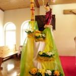 dekoracja wielkanocna Chrystus Zmartwychwstały