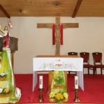 dekoracja wielkanocna w kaplicy w ozarowie mazowieckim