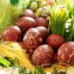 malowane jajka wielkanocne - dekoracja